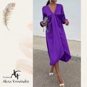 Precioso vestido 😍😍 disponible en muchos colores!! #vestido #midi #morado #💜#💚#💕 #moda #modamujer #diseño #estilo #ootd #lookoftheday #tiendaderopa #boutique #boutiquealiciafernandez #pequeñocomercio #comerciolocal #ciudadlineal #pueblonuevo #calleemilioferrari #callealcala